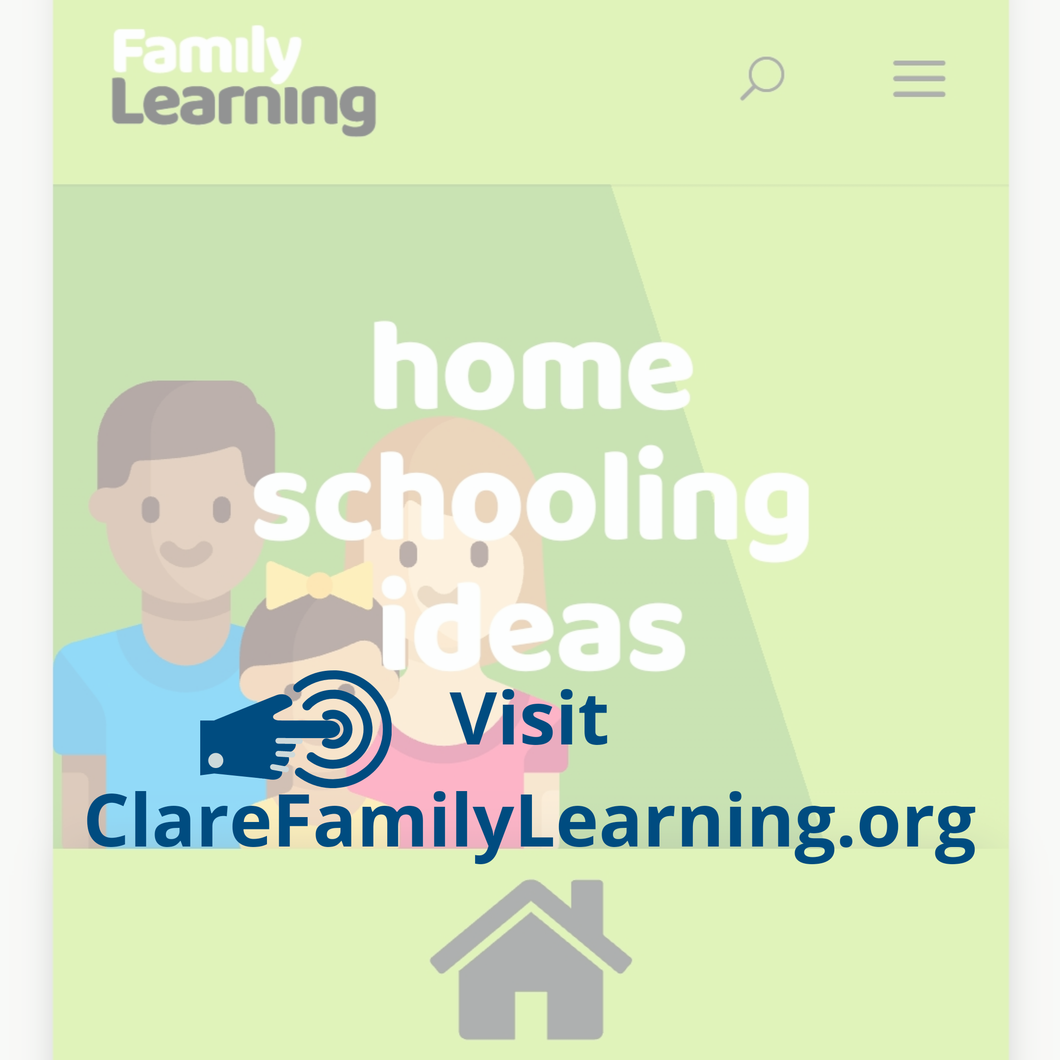 Clare Family Learning Home Schooling Ideas