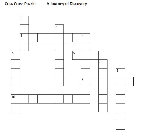 A Journey of Discovery - Crossword 1