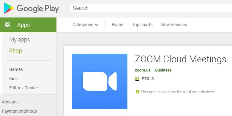Download Google Play Zoom