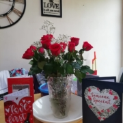 Valentines Day flowers and cards