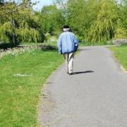 Older gentleman walking