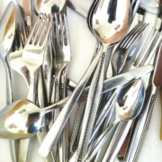Selection of silver cutlery