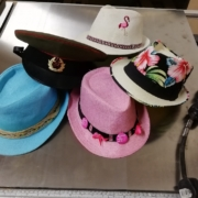 Selection of colourful hats