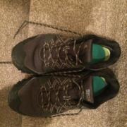 Black walking shoes