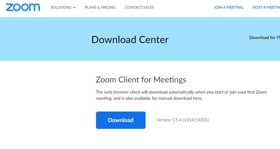 Zoom Download Centre
